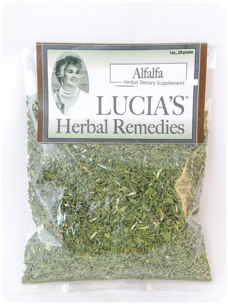 Alfalfa herbal tea