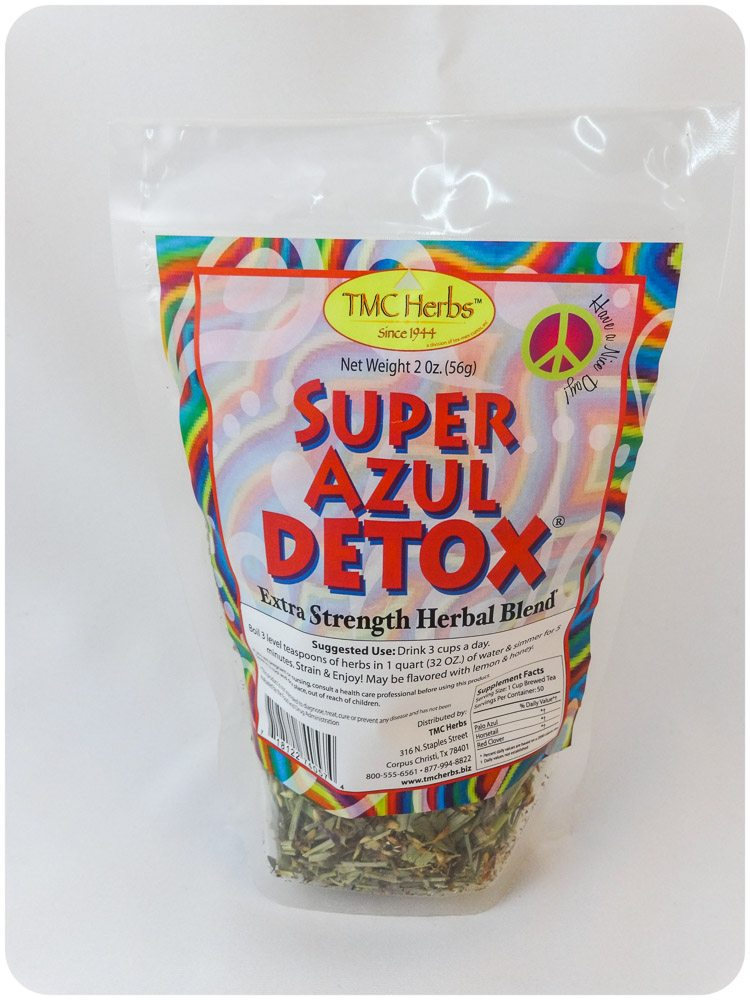 Super Azul Herbal Detox Tex Mex Curios