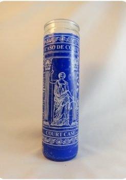 Court Case Candle / Causa de Corte blue