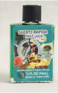 Fast Luck Spiritual Oil / Aceite Suerte Rapida oil