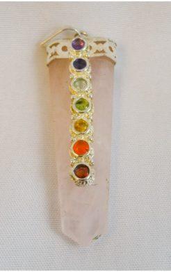 Rose Quartz Chakra Pendant