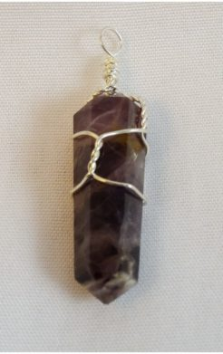 Amethyst Crystal Pointe Pendant