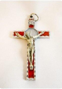 Saint Benedict Cross Red