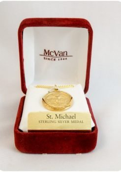 Saint Michael Gold Plated Medallion