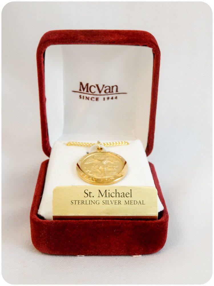 Saint Michael Gold Plated Medallion
