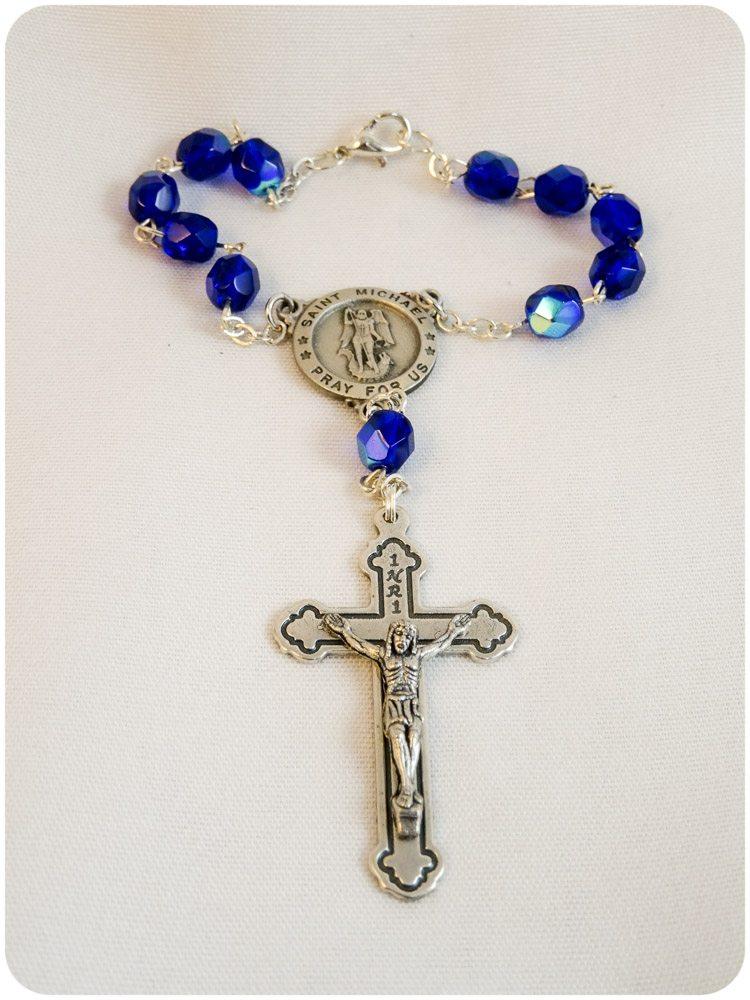Saint Michael Rosary Bracelet