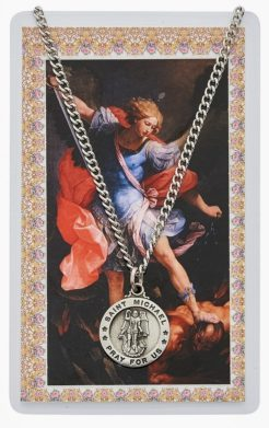 Saint Michael Medallion and prayer card