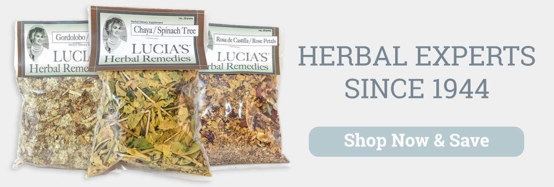 Lucia's Herbal Remedies herbal experts since 1944