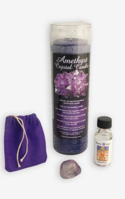 Amethyst crystal protection set