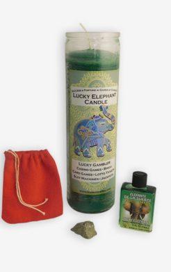 Lucky elephant gamblers ritual set