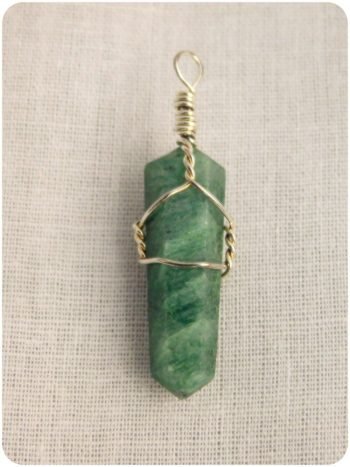 Aventurine crystal pendant