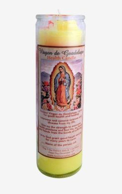Guadalupe health candle