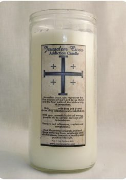 Jerusalem Cross addiction jumbo candle