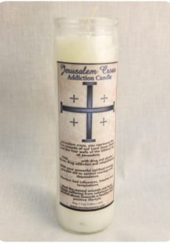 Jerusalem cross addiction candle (triple strength candle)