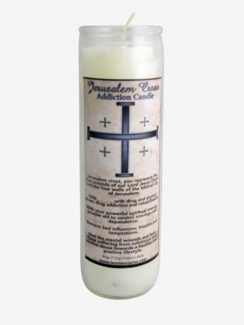 Jerusalem cross addiction candle