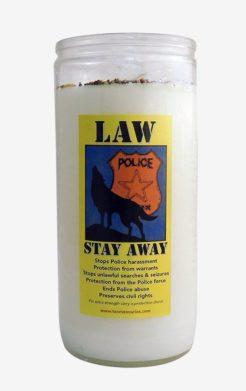 Law Stay Away Jumbo Candle