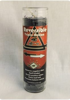 Reversible triple action candle (triple strength candle)