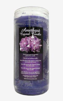 Amethyst Crystal Jumbo Candle