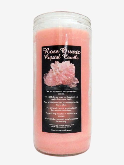 Rose Quartz Crystal Jumbo Candle