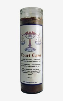 Court Case Candle , Causa de Corte Brown