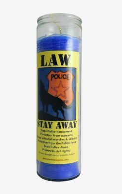 Law Stay Away Candle