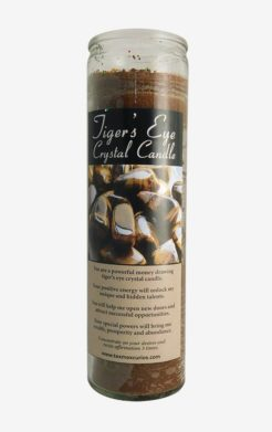 Tiger's Eye Crystal Candle