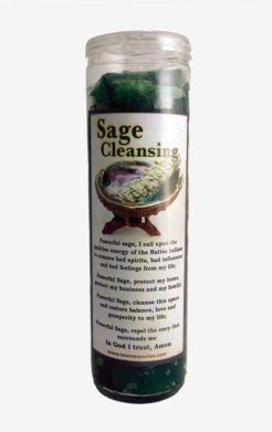 Sage cleansing candle