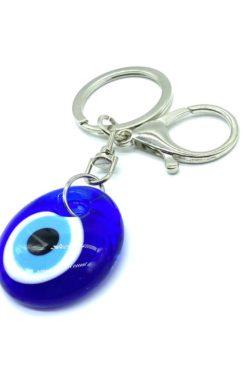 Evil eye key chain glass eye