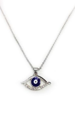 Silver Evil Eye with silver chain