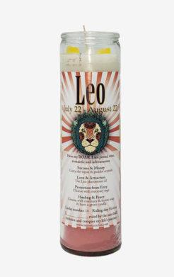 Leo Zodiac Candle