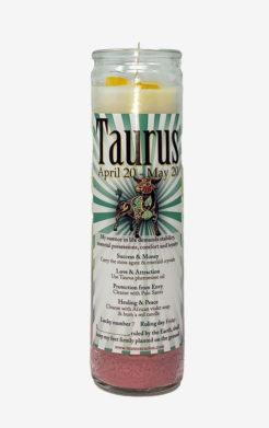 Taurus Zodiac Candle
