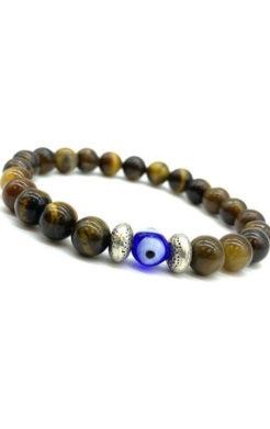 Evil eye tiger eye bracelet